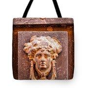 Face On The Door - Rectangular Crop Tote Bag