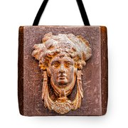 Face On The Door - Square Crop Tote Bag