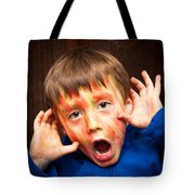 Face Paint Tote Bag by Tom Gowanlock