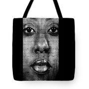 Face To Face - Crown Fountain Chicago Tote Bag by Christine Till