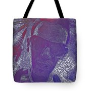Face Typography  Tote Bag
