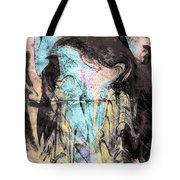 Faceless Girl With Her Crow Tote Bag