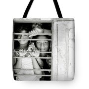 Faces At The Window Tote Bag