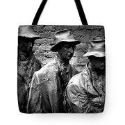 Faces In A Breadline Tote Bag