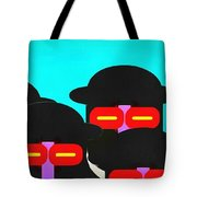 Faces In A Crowd Tote Bag