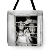 Faces In The Window Tote Bag