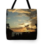 Faces In The Clouds Tote Bag