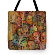 Faces In The Crowd Tote Bag