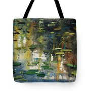 Faces In The Pond Tote Bag