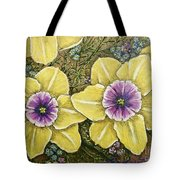 Faces Of Spring    Tote Bag