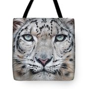 Faces Of The Wild - Snow Leopard Tote Bag