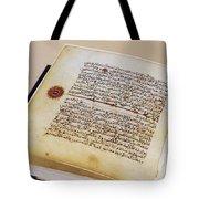 Facsimile Of A 13th Century Koran Tote Bag