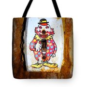 Faded Clown Tote Bag