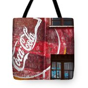 Faded Coca Cola Mural 1 Tote Bag