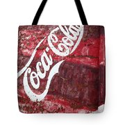 Faded Coca Cola Mural 2 Tote Bag