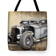 Faded Ford Coupe Tote Bag