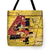 Faded Four Tote Bag