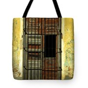 Faded Wooden Shutters In Cuba Tote Bag