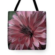 Faded Pink Dahlia Tote Bag