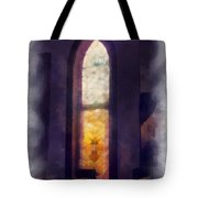 Faded Purple Stained Glass Window Photo Art Tote Bag