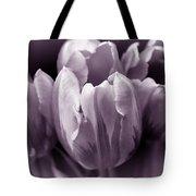 Fading Tulip Flowers Lavender Gray Monochrome Tote Bag