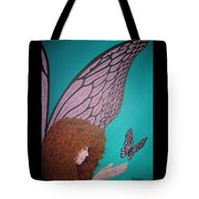 Faerie And Butterfly Tote Bag