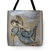 Faery And The Stork - Prints Tote Bag