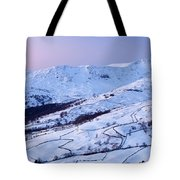 Fairfield Covered In Snow At Sunset Tote Bag