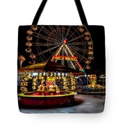 Fairground At Night Tote Bag