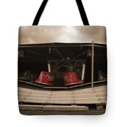 Fairground Waltzer In Sepia Tote Bag
