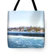 Fairmount Dam And Boathouse Row In Philadelphia Tote Bag