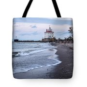 Fairport Harbor Breakwater Lighthouse Tote Bag