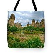 Fairy Chimneys In Cappadocia-turkey Tote Bag