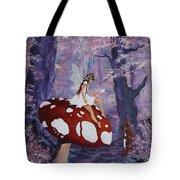 Fairy On A Mushroom Tote Bag
