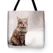 Fairytale Fox _ Red Fox In A Snow Storm Tote Bag