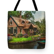 Fairytale House. Giethoorn. Venice Of The North Tote Bag