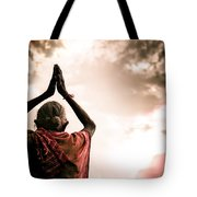 Faith And Prayers For Peace Tote Bag by Nila Newsom