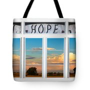 Faith  Hope Love Nature Window View Tote Bag