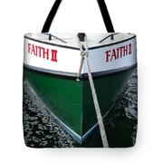Faith II Fishing Boat Tote Bag
