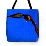 Falcon In Blue Tote Bag