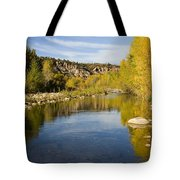Fall Along River Sierra Ancha Tote Bag