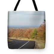 Fall Along The Country Highway 2 Tote Bag