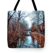 Fall Along The Delaware Canal Tote Bag