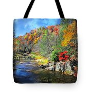 Fall Along The Linville River Tote Bag