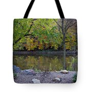 Fall Along The Scioto River Tote Bag