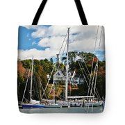 Fall And The Sailboats Tote Bag