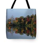 Fall At Heart Pond Tote Bag