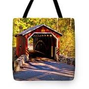 Fall At Kurtzs Mill Covered Bridge Tote Bag