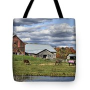 Fall At The Horse Farm Tote Bag
