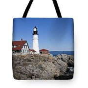 Fall At The Lighthouse Tote Bag